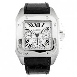 Cartier Santos 100 Chronograph XL swiss automatic mens watch W20090X8
