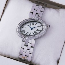 Cartier Delices womens watch with two rows of diamonds