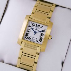 Cartier Tank Francaise mens watch 18K yellow gold
