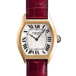 Cartier Tortue diamond watch women 18k yellow gold