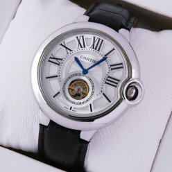 Ballon Bleu de Cartier Flying Tourbillon watch silver dial steel