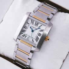Cartier Tank Francaise W51005Q4 18k yellow gold men watch replica