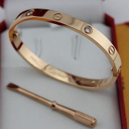 Cartier Love bracelet imitation pink gold diamond B6036016