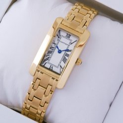 Cartier Tank Americaine replica watch W26015K2 18K yellow gold
