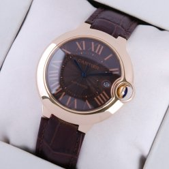 Ballon Bleu de Cartier large watch black dial 18K pink gold