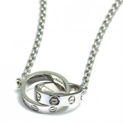 Cartier Love chain necklace white gold B7212500
