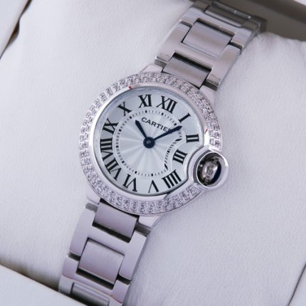 Ballon Bleu de Cartier small quartz steel watch
