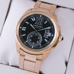 Calibre de Cartier Automatik Herrenuhr Replik W7100040