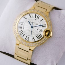 Ballon Bleu de Cartier Uhren Replica WE9007Z3 18 Karat Gelbgold