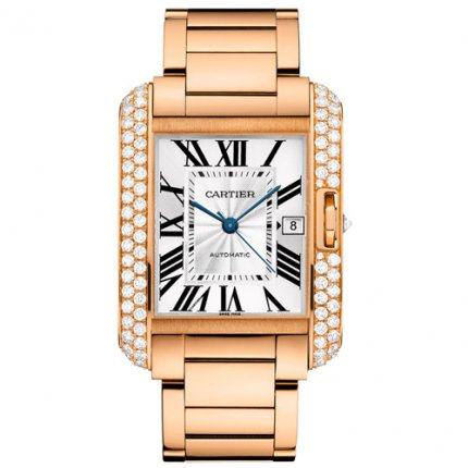 Cartier Tank Anglaise Lünette Rotgold 18 Herrenuhr WT100004