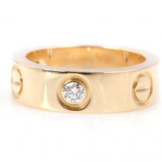 Cartier Love Ring Gelbgold Diamanten B4032400