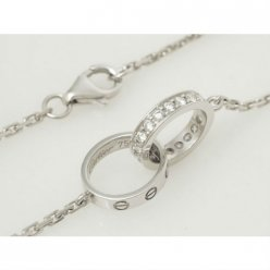 Collier love Cartier or blanc diamant B7013700