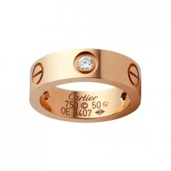 Cartier Bague love diamants en or rose B4087500