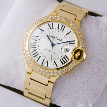 Ballon Bleu de Cartier WE9007Z3 montres réplique or jaune 18 carats