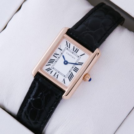 Cartier Tank Solo montre suisse réplique or rose 18 carats
