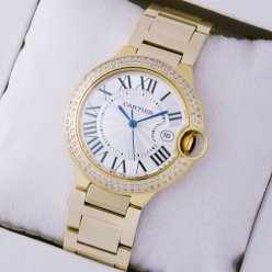 Ballon Bleu de Cartier montres à quartz diamants or jaune 18 kt