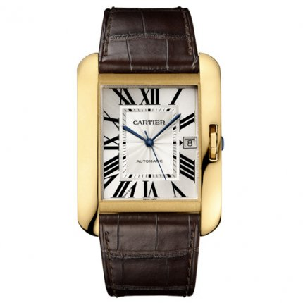 Cartier Tank Anglaise montres pour hommes W5310032 or jaune 18 carats