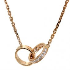 Collier love Cartier en or rose diamants B7013900