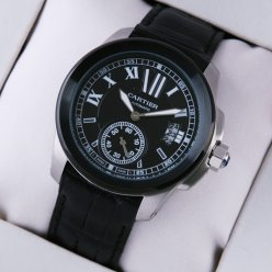 Calibre de Cartier noires automatiques Mens Watch réplique