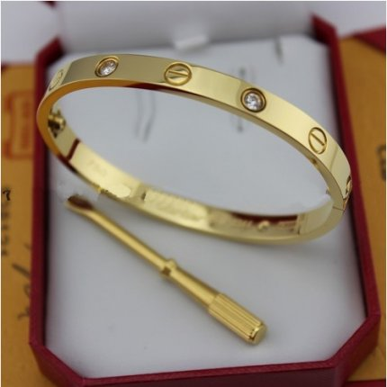 Love Bracelet Cartier Replica or jaune diamants B6035916