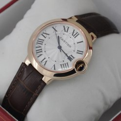 Ballon Bleu de Cartier montre à quartz suisse en or rose 18 kt