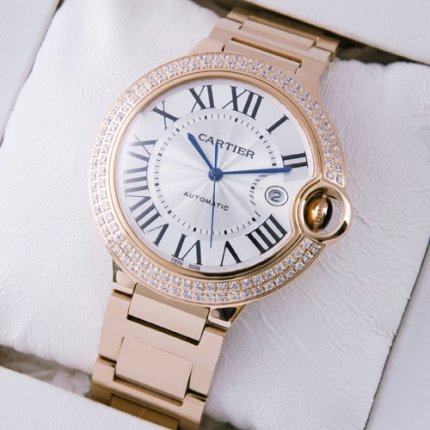 Ballon Bleu de Cartier WE9008Z3 grande montres en or rose 18K