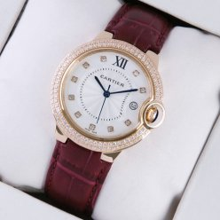 Ballon Bleu de Cartier montres suisses diamant 18 carats en or rose