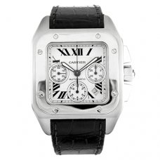 Cartier Santos 100 XL Chronographe suisses hommes Montre automatique W20090X8