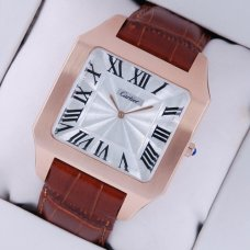 Cartier Santos Dumont réplique montre en or rose 18K