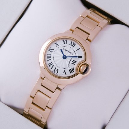 Ballon Bleu de Cartier petite montre à quartz W69002Z2 18 kt or rose
