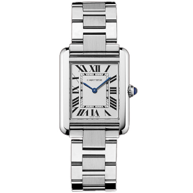 Cartier Tank Solo ladies watch imitation W5200013 stainless steel