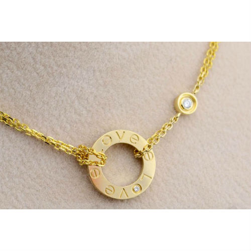 f4998392fe944a Cartier Love necklace yellow gold B7219500 diamonds