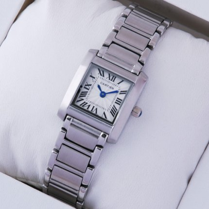 Cartier Tank Francaise donne orologio in acciaio W51008Q3