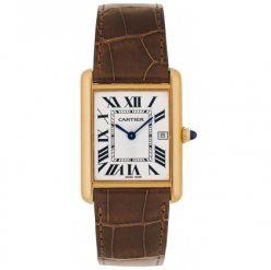 Cartier Tank Louis 18 carati in oro giallo mens orologi replica W1529756