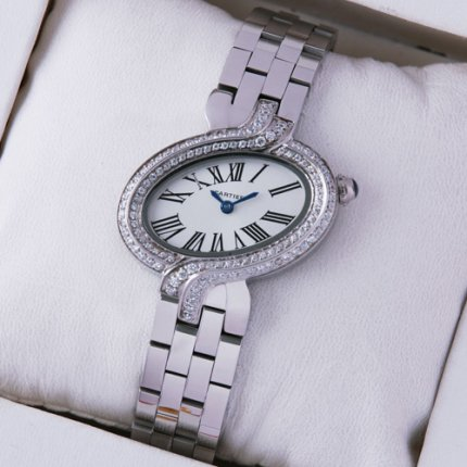 Cartier Delices orologio da donna con due file di diamanti
