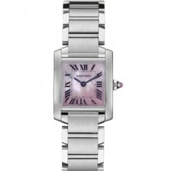 Cartier Tank Francaise donne orologio in acciaio W51028Q3