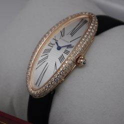 Cartier Baignoire Swiss Diamond replica orologio in oro rosa per le donne