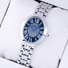 Cartier Baignoire womens watch replica with blue diamond dial