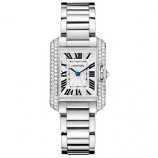 Cartier Tank Anglaise diamond watch for women WT100008 18K white gold