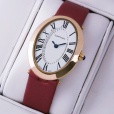 Cartier Baignoire pink gold womens watch replica