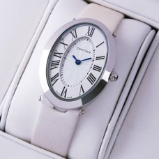 Cartier Baignoire white satin strap womens watch replica