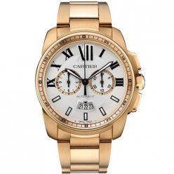 Calibre de Cartier Chronograph watch W7100047 18K pink gold